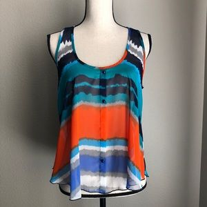 Tops - Relaxed Fit Sheer Tank / Cover Up